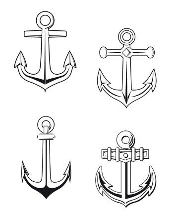 海洋設計アンカー記号を設定します。