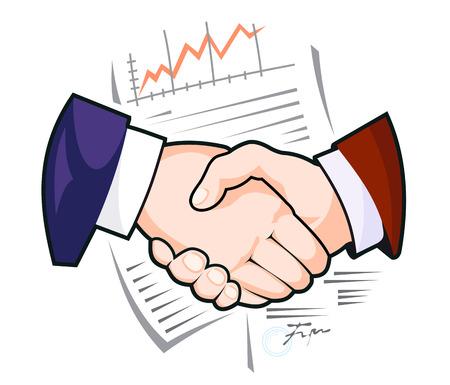ビジネスや別の概念設計のためのパートナーシップ ハンドシェイク