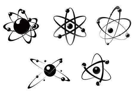 科学のアイコンとシンボルは、白い背景で隔離  イラスト・ベクター素材