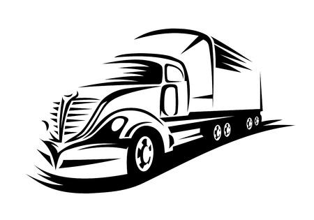 配送トラック輸送の概念のための道路上に移動