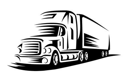 交通機関の設計やコンセプトのための道路上の移動の配達用トラック