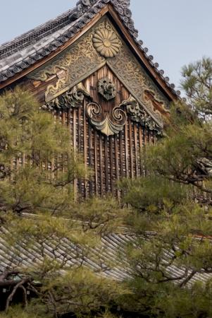 nijo: Nijo Castle in Kyoto, Japan  Editorial