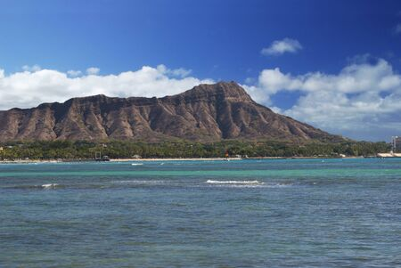 Waikiki Beach and Diamond Head Stock Photo - 17553201