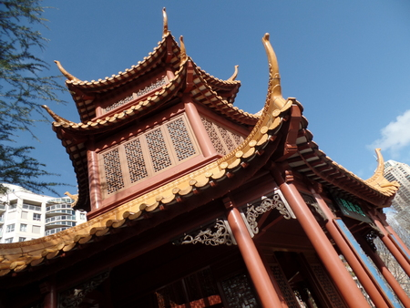 solemn land: Chinese Temple Stock Photo