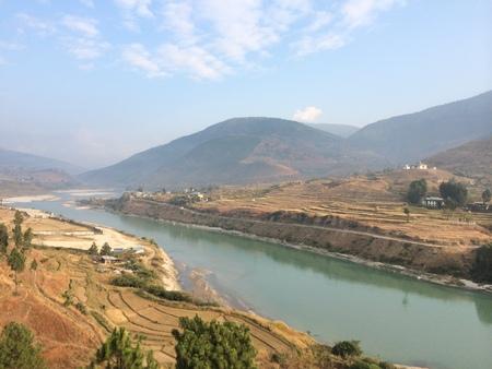 Female River in Punakha - An Ancient Capital of Bhutan photo