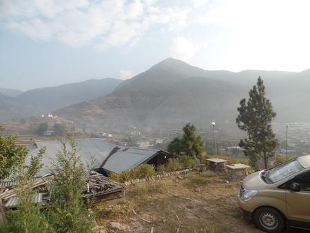 Mountainside of Bhutan photo