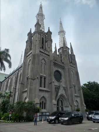 Cathedral in the capital of Indonesia