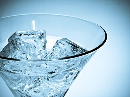 martini glass wiht ice  cube Stock Photo - 4531095