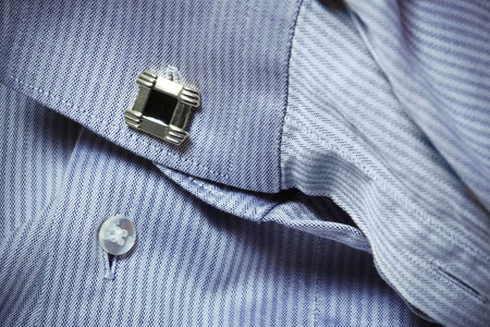 hand of a man in a shirt with cuff link Stock Photo - 14473964