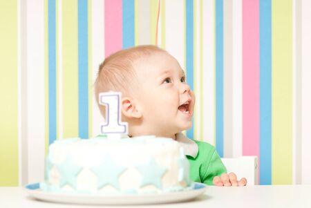 one year baby birthday party photo