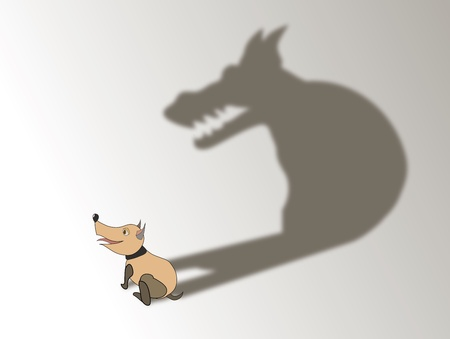 a dog's shadow(1).jpg Stock Vector - 12944368