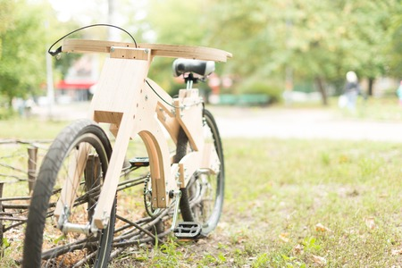 Wooden bicycle handmade from eco materials cruiser