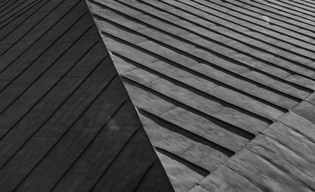 Abstract geometric backgroung of roof ceiling diagonal