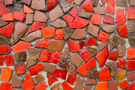 swimming glasses: Red Mosaic Tile Background