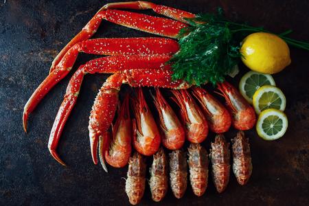 Shrimp with crab meat Фото со стока