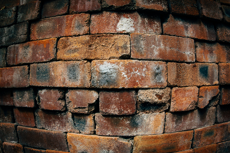 Texture of a brick wall, background. Convex