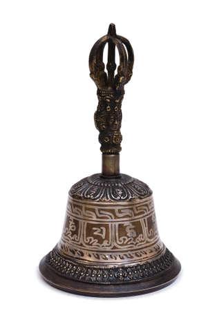 Tibetoon bell isolated on white background