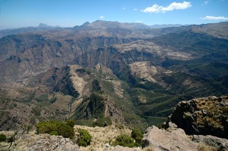 mountain valley in ethiopia Stock Photo