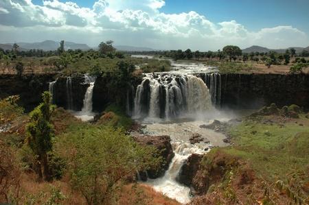 aerial views: Ethiopia BlueNile Falls Stock Photo