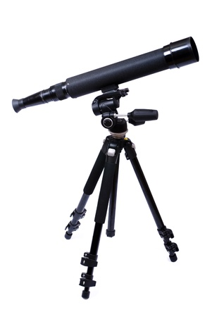 eyepiece: Telescope on a support