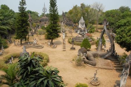 Laos, Xieng Khuan - buddha park near Vientiane