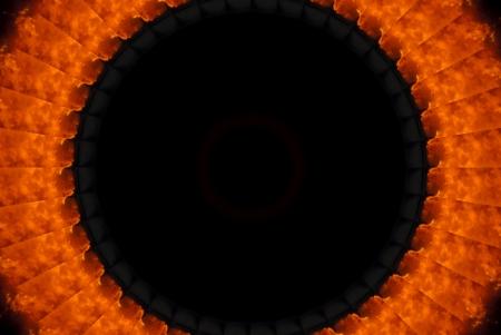 burning circle, eclipse