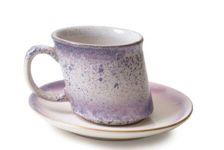 Coffee mug of unusual design on a white background  Stock Photo