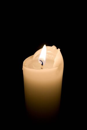 Single lit candle with quite flam