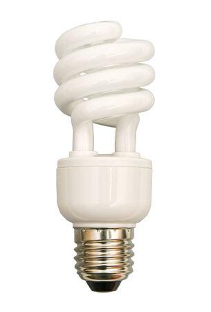 fluorescent light bulb on a white background