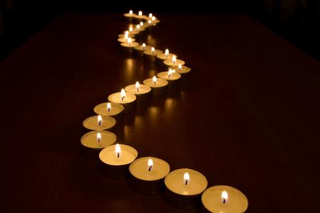Burning candles in ñðà interior, selective focus