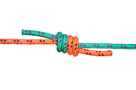Rope knot grepwin. Collection of photos - knots used in mountaineering and rock-climbing Stock Photo