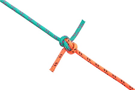 Hunters knot. Collection of photos - knots used in mountaineering and rock-climbing