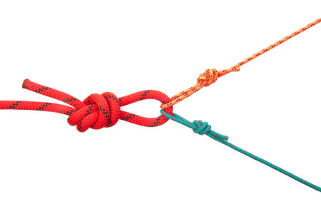Loops from cords of different diameter. Collection of photos - knots used in mountaineering and rock-climbing