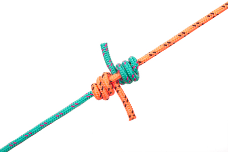 Snake knot. Collection of photos - knots used in mountaineering and rock-climbing