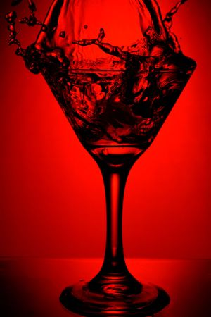 martini splash: red martini splash