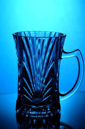 vertica: crystal tea glass Stock Photo