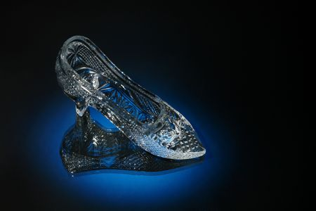 cinderella shoes: crystal shoe