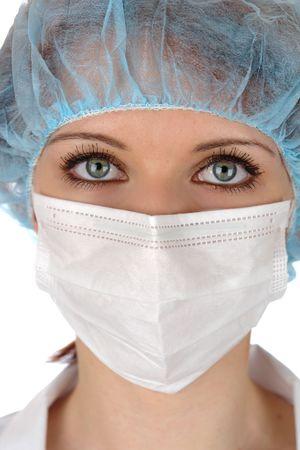 enfermera con cofia:  Retrato de joven m�dico