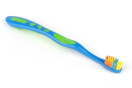 blue tooth brush isolated on a white                                Banco de Imagens