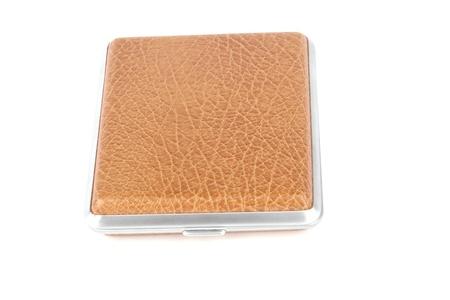 cigarette case: cigarette case on a white bg