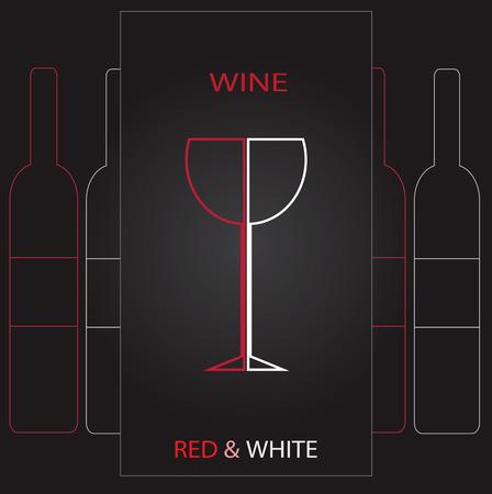 Vector beauty wine map illustration  Illustration