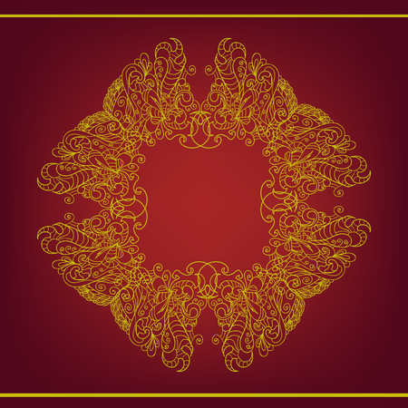 diameter: Vintage  ornament jn a red background eps 10