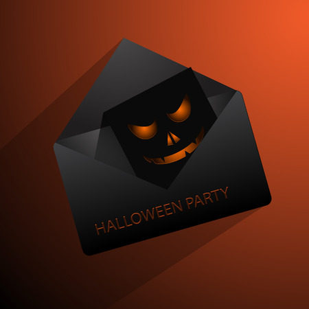 mail: Happy Halloween mail vector eps 10