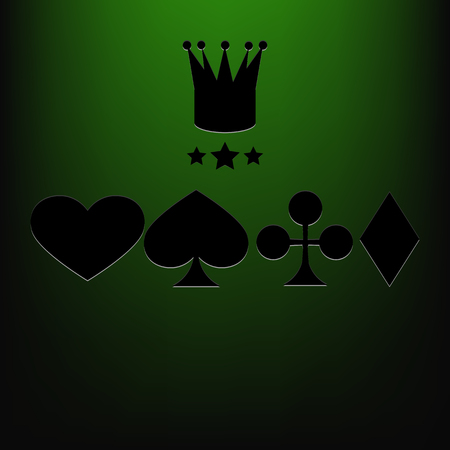 wining: Casino vector background green eps 10