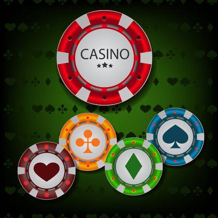 fond de texte: jetons de casino vecteur eps 10 Illustration