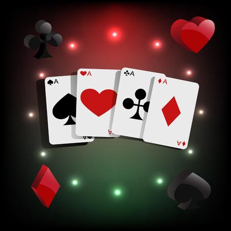 eps: Casino element Poker cards  eps 10 Illustration