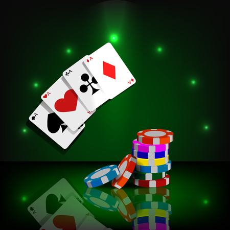 eps 10: Casino chips and cards vector background eps 10 Illustration