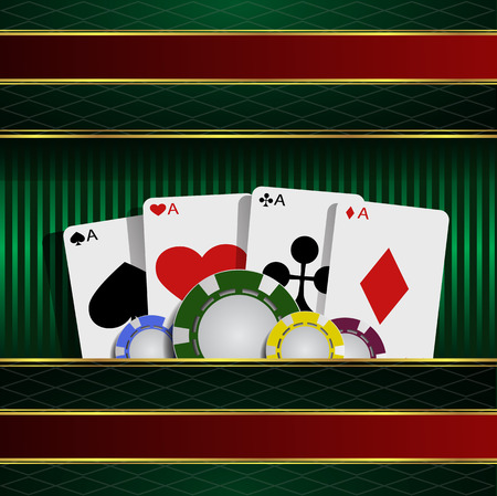 eps 10: Casino element Poker cards and chips eps 10