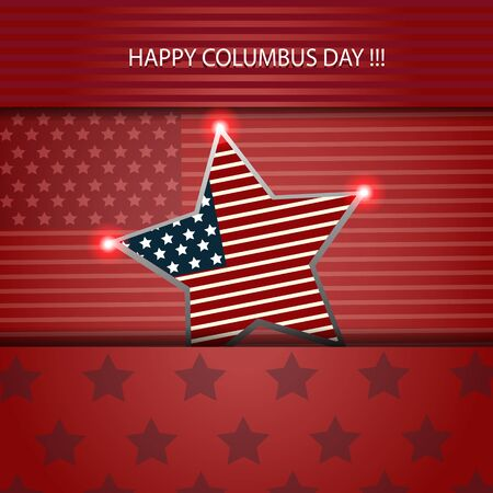 united stated: Happy columbus day illustration card design eps 10 vector