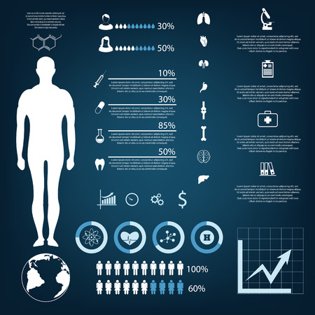 autopsy: medical infographic elements eps 10 vector